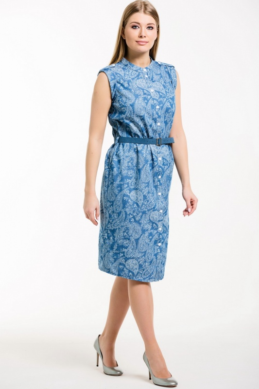 Платье с ремнем 7489