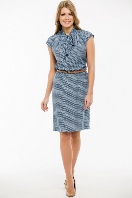Платье с ремнем 7464