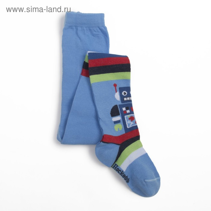 Колготки для мальчика, рост 92-98, цвет голубой КДМ1-2778
