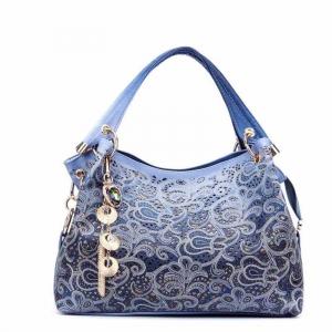 Красивая ажурная сумка BG-13-BLUE