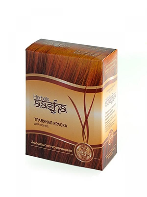 Краска для волос травяная Золотисто-коричневый