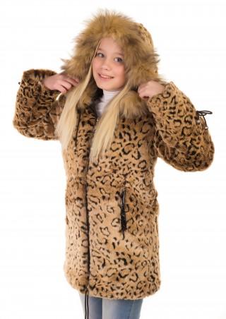 Шуба Леопард натуральная опушка 120 Торговая марка: Tashkan