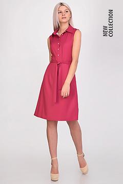 Платье 590 вискоза твил малиновая