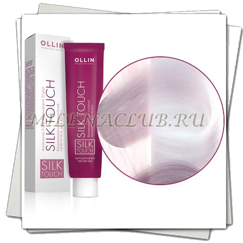 Ollin Silk Touch Безаммиачный стойкий краситель 10/8 Светлый блондин жемчужный 60мл