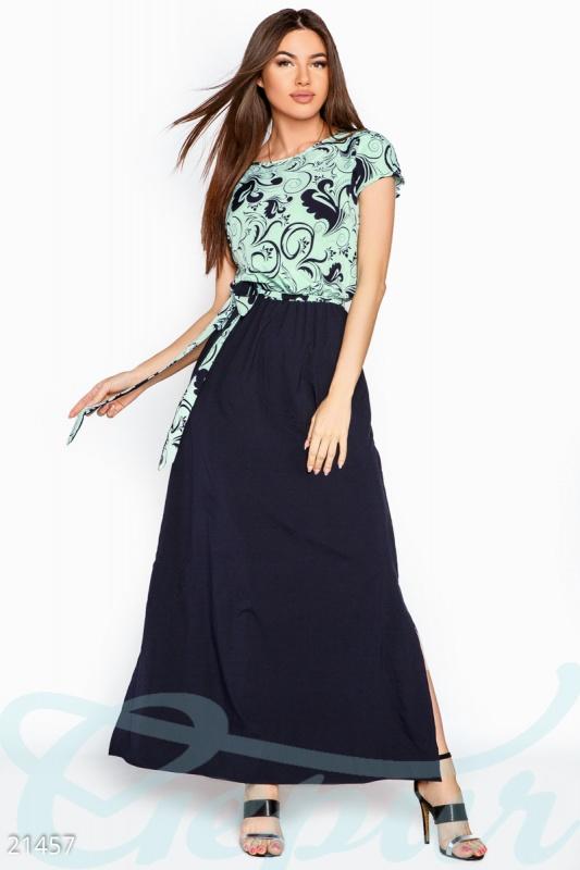 Natural Платье макси узоры