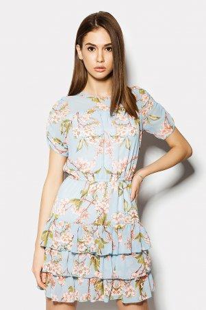 "Платье \""OASIS\"" голубое сакура CRD1504-3262"
