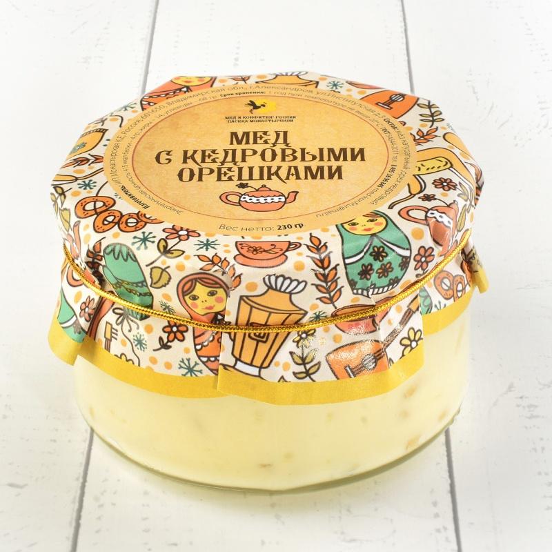 """Крем-мёд с кедровыми орешками \""""Русский стиль\"""" 230 гр."""