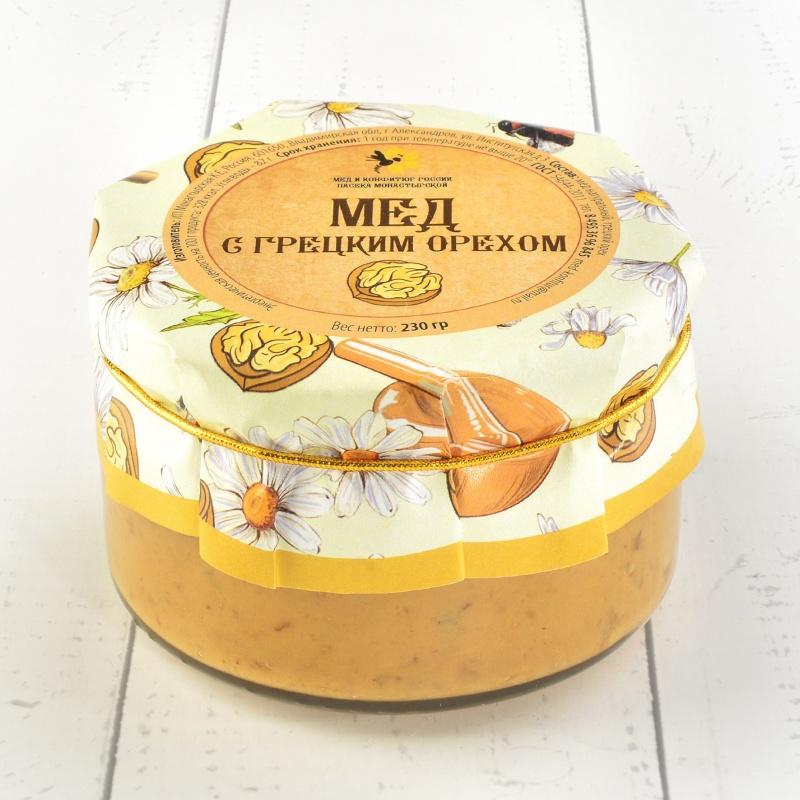 """Крем-мёд с грецкими орехами \""""Русский стиль\"""" 230 гр."""