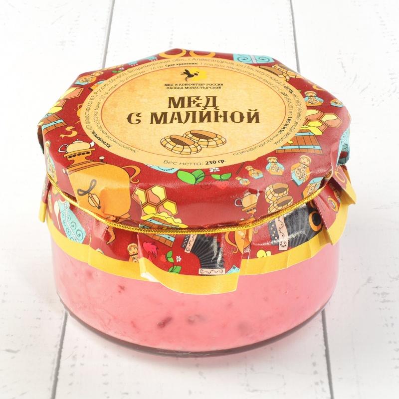 """Крем-мёд с малиной \""""Русский стиль\"""" 230 гр"""