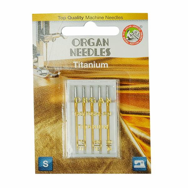 Иглы ORGAN титаниум №75-90 для БШМ упак.5 игл