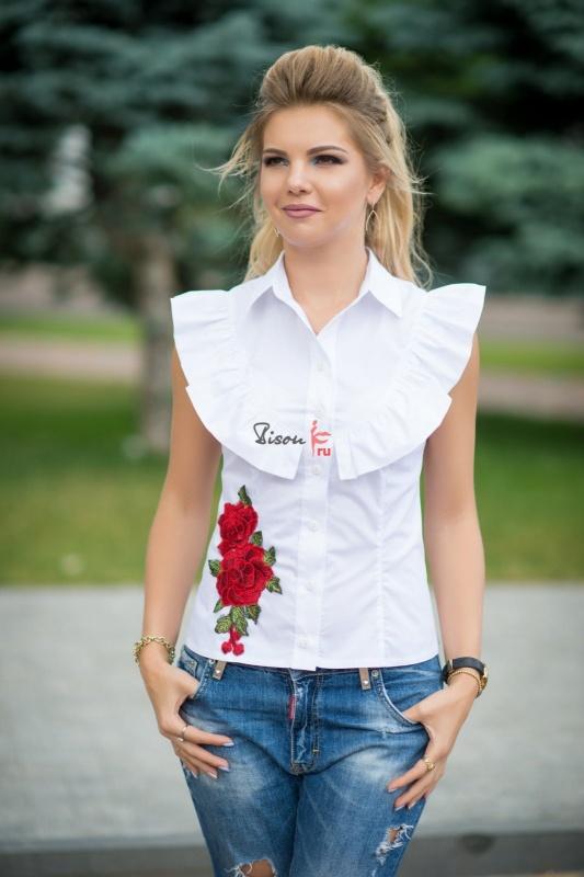 Блузка белая - 1296