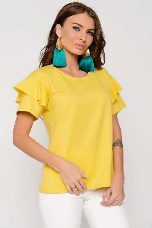 """Блуза \""""Пенелопа\"""" (лимон)"""