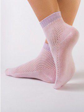 Носки хлопковые женские AJOUR (короткие, люрекс)