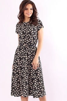 Красивое летнее платье в принт ромашка