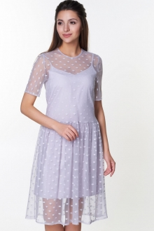 Стильное платье с накидкой