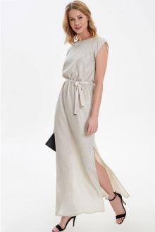 Длинное платье с серебряным напылением