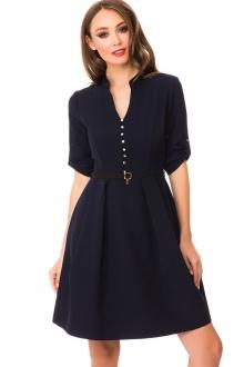 Однотонное платье с ремешком