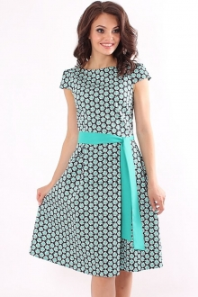 Женственное платье с поясом