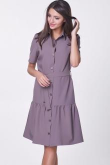 Платье-рубашка прямого фасона