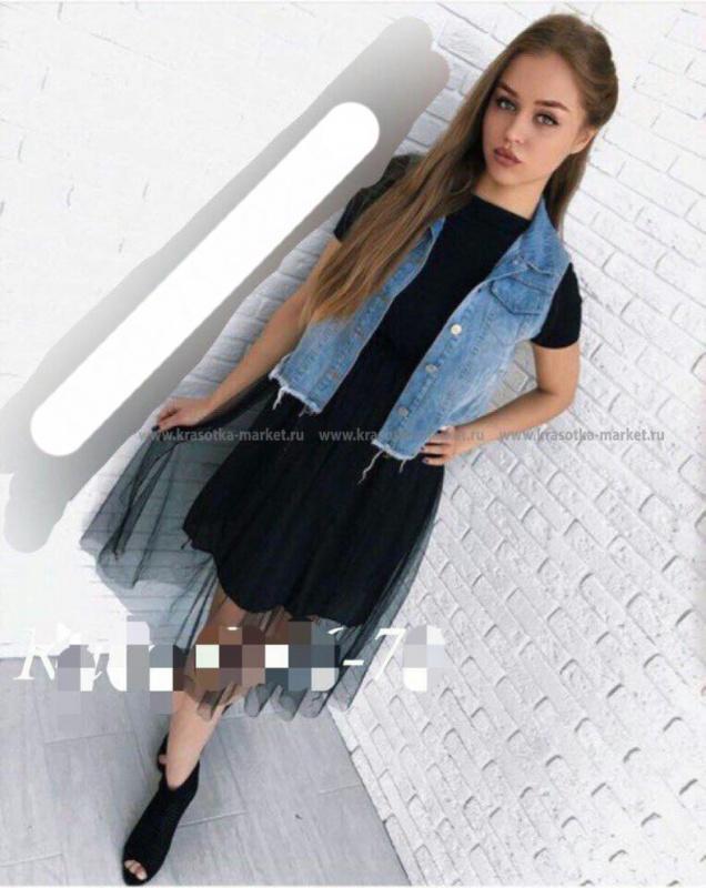 Платье +жилет  #10396551