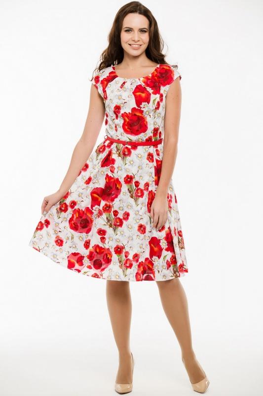 Платье с ремнем 7419
