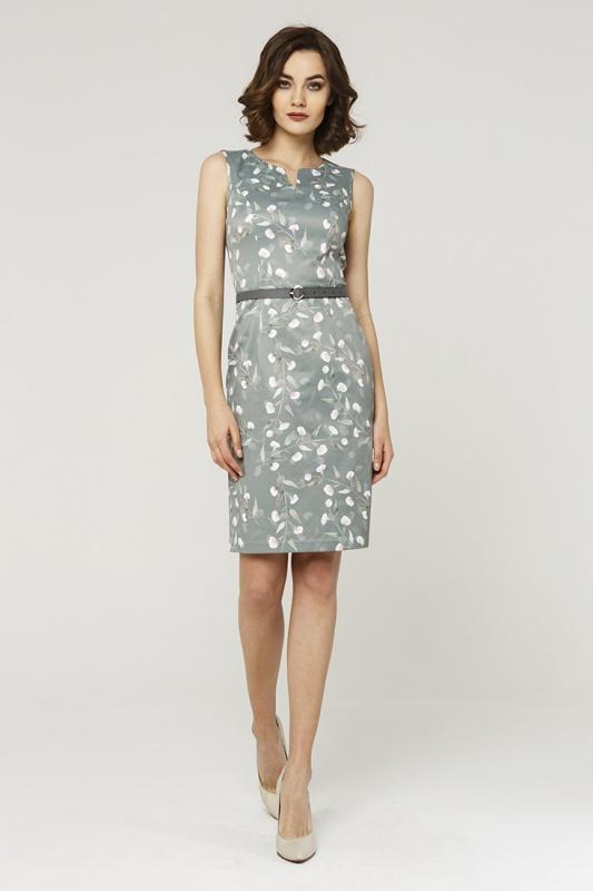 Платье с ремнем 7602