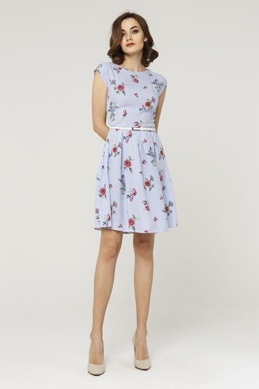 Платье с ремнем 7590