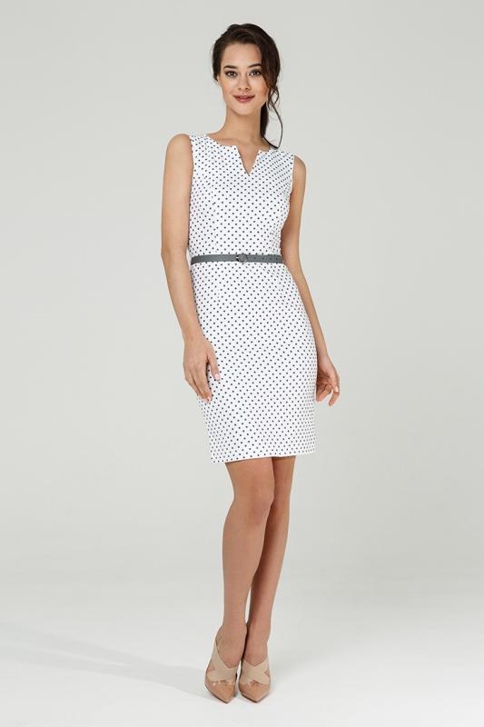 Платье с ремнем 7616