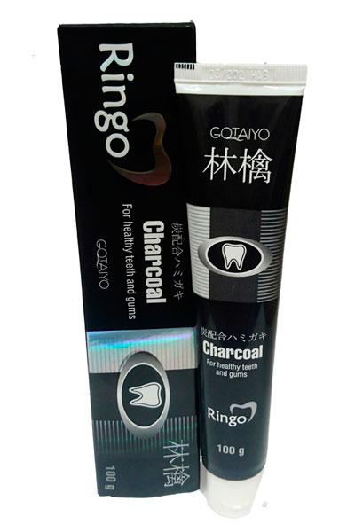 "201637 RINGO \""Сharcoal\"" Паста зубная отбеливающая, с углем,  без содержания сахара, в коробке, 100 г НОВИНКА"