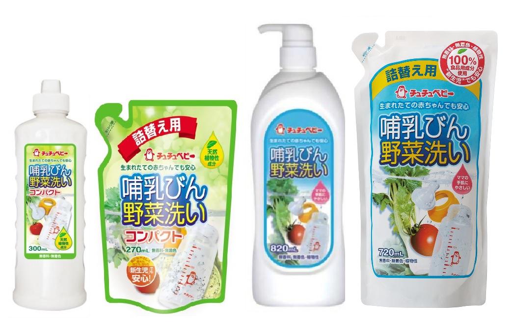 993409 CHUCHUBABY Жидкое средство для мытья детских бутылок, овощей и фруктов, 820 мл