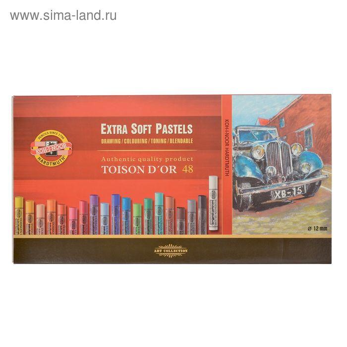 Пастель сухая экстра-мягкая художественная TOISON D`OR 8556/48, 48 цветов