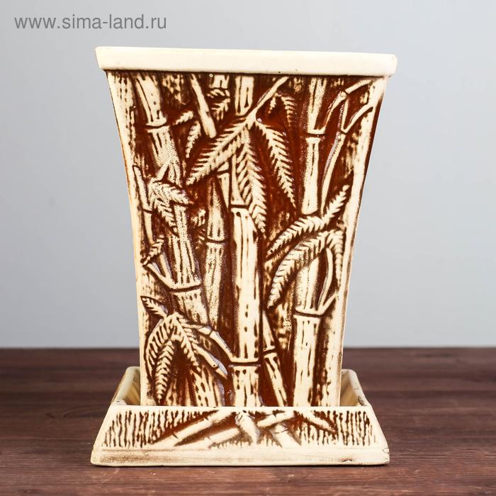 "Кашпо ""Бамбук"" шамот, 3 л"