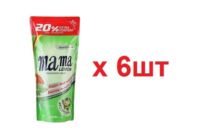 Mama Ultimate Концентрат для мытья посуды и детских принадлежностей 600мл Зеленый чай Запаска 6шт