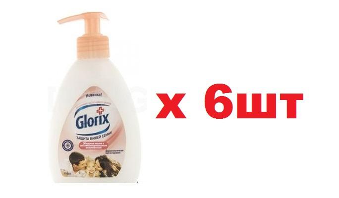 Glorix Жидкое мыло с антибактериальным комплексом 240мл Натуральное масло чайного дерева 6шт