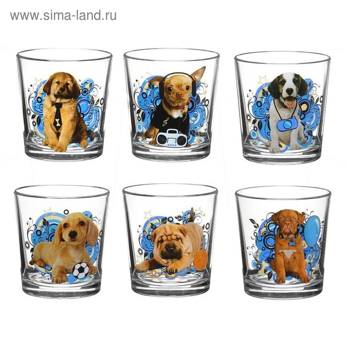 """Набор стаканов 250 мл \""""Щенки\"""", 6 шт, рисунок МИКС"""