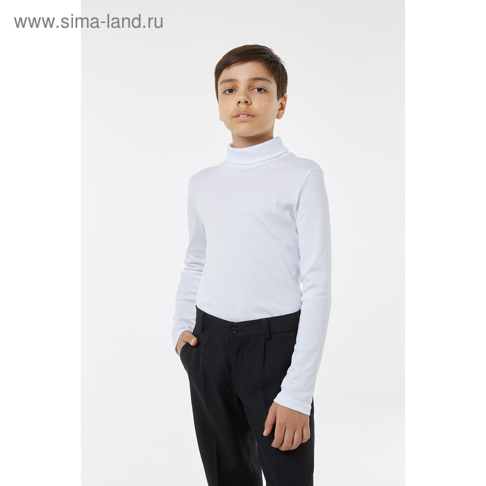 Водолазка для мальчика, рост 122 см, цвет белый 1S6-002-11811