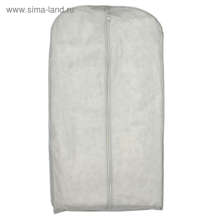 Чехол для одежды, зимний спанбонд 140х60х10 см, цвет серый