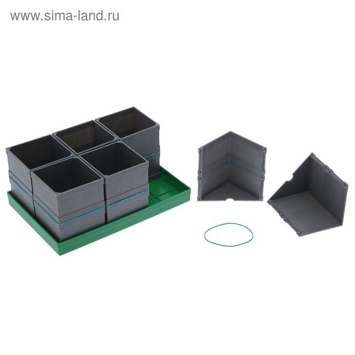 Набор для рассады: стаканы - 6 шт. по 350 мл, поддон 23 х 16 см
