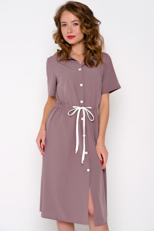 """Платье - рубашка \""""Кейт\"""" (панакота)"""