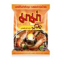 Тайская лапша быстрого приготовления «Том Ям с креветками»(болььшой обьём!) Mama 90 гр