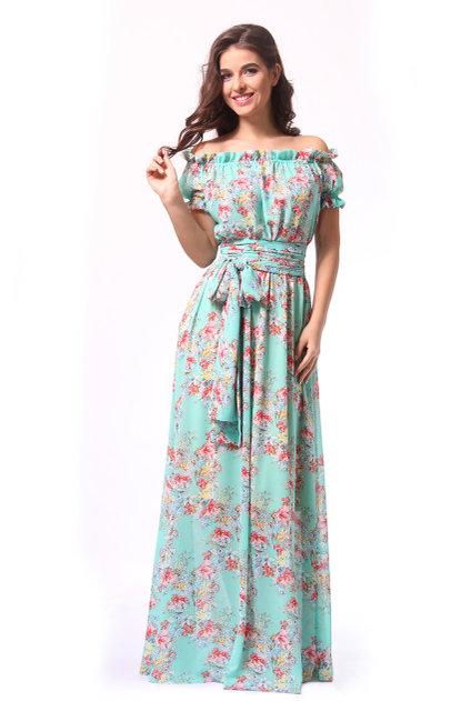 Платье с широким поясом-завязкой Л-005557