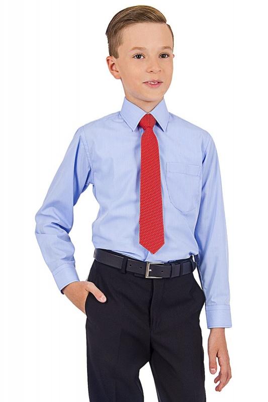 2.10-03-05-1107 сорочка детск голубая точка микро длин