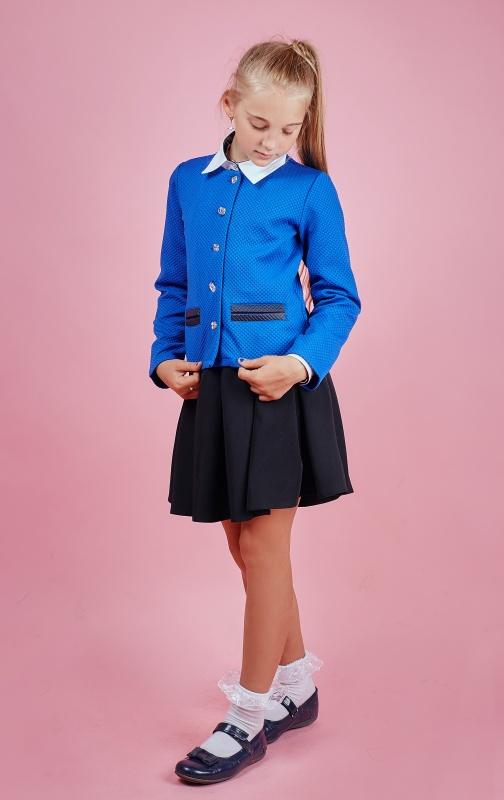 Sauliza: Трикотажный пиджак для девочки-подростка модель электрик 51
