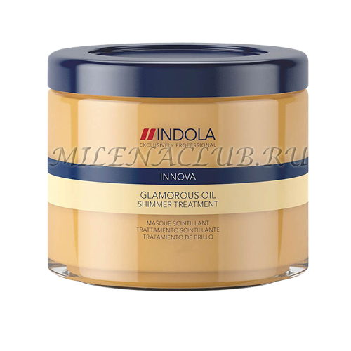 "INDOLA Маска восстанавливающая смываемая ""Чарующее сияние"" Glamorous Oil Treatment Hair Mask 200 мл."