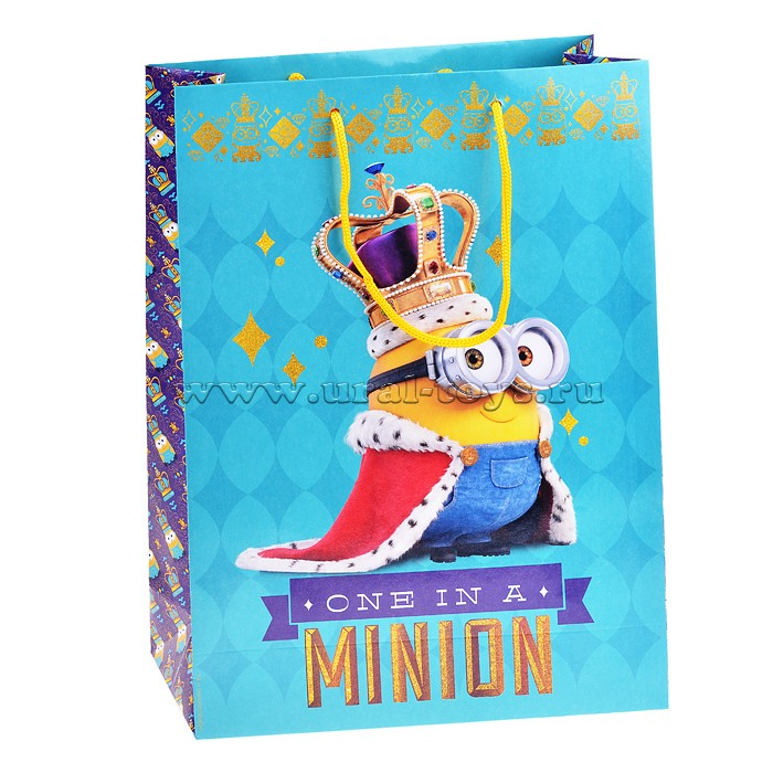 """Пакет подарочный """"Миньон-король"""",350*250*90"""