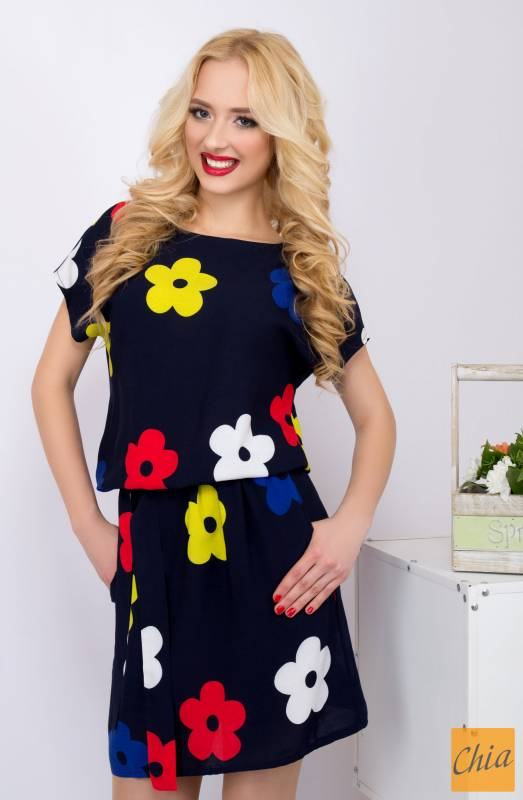 платье с пояском 622 темно-синий от LiPar