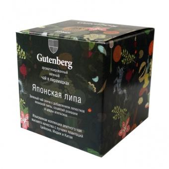"""Чай Gutenberg зеленый ароматизированный в пирамидке \""""Японская Липа\"""""""