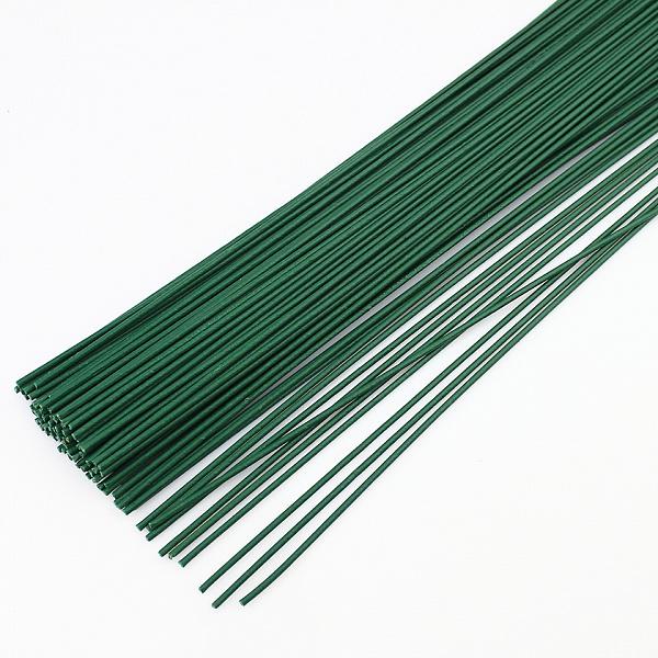 Флористическая проволока цв.зеленый 2,0 мм, 36 см уп.20шт