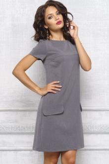 Модное платье с коротким рукавом