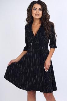 Интересное платье с укороченными рукавами